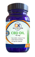 GX Nutrition 10mg CBD Oil Capsules (60 Capsules) - NEW!