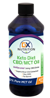 GX Nutrition Keto Diet CBD/MCT Oil - 34mg CBD/Dose - Unflavored