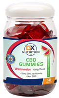GX Nutrition Watermelon CBD Gummies - 10mg/Dose - NEW!