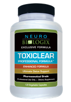 Toxiclear Professional Formula by Neurobiologix (120 Capsules)