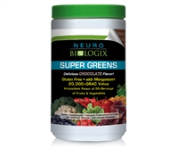 Super Greens Chocolate by Neurobiologix ORAC levels equal to 20+ servings of fruits and vegetables!