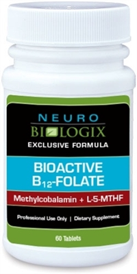 Bioactive B12 - Folate by Neurobiologix (60 Tablets/Dissolves)