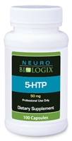 5-HTP (L-5-Hydroxytryptophan) 50mg by Neurobiologix (100 Capsules)