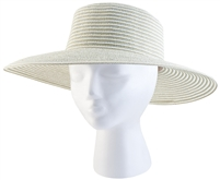 "Women's Braided  ""Spring Brunch"" Sun Hat -Green UPF 50+"