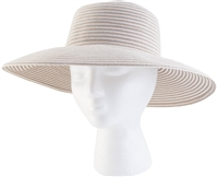 "Women's Braided  ""Spring Brunch"" Sun Hat -Tan UPF 50+"