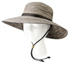 Sloggers Women's Braided Hat Brown Blue UPF 50+