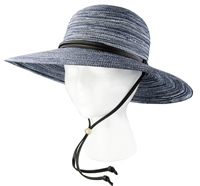 Sloggers Women's Braided Hat Navy UPF 50+