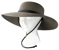 Sloggers Women's Braided Hat Brown Gray UPF 50+