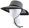 Sloggers Women's Braided Hat Black & White UPF 50+