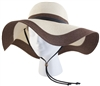 Sloggers Women's Braided Hat Coffee Cream UPF 50+
