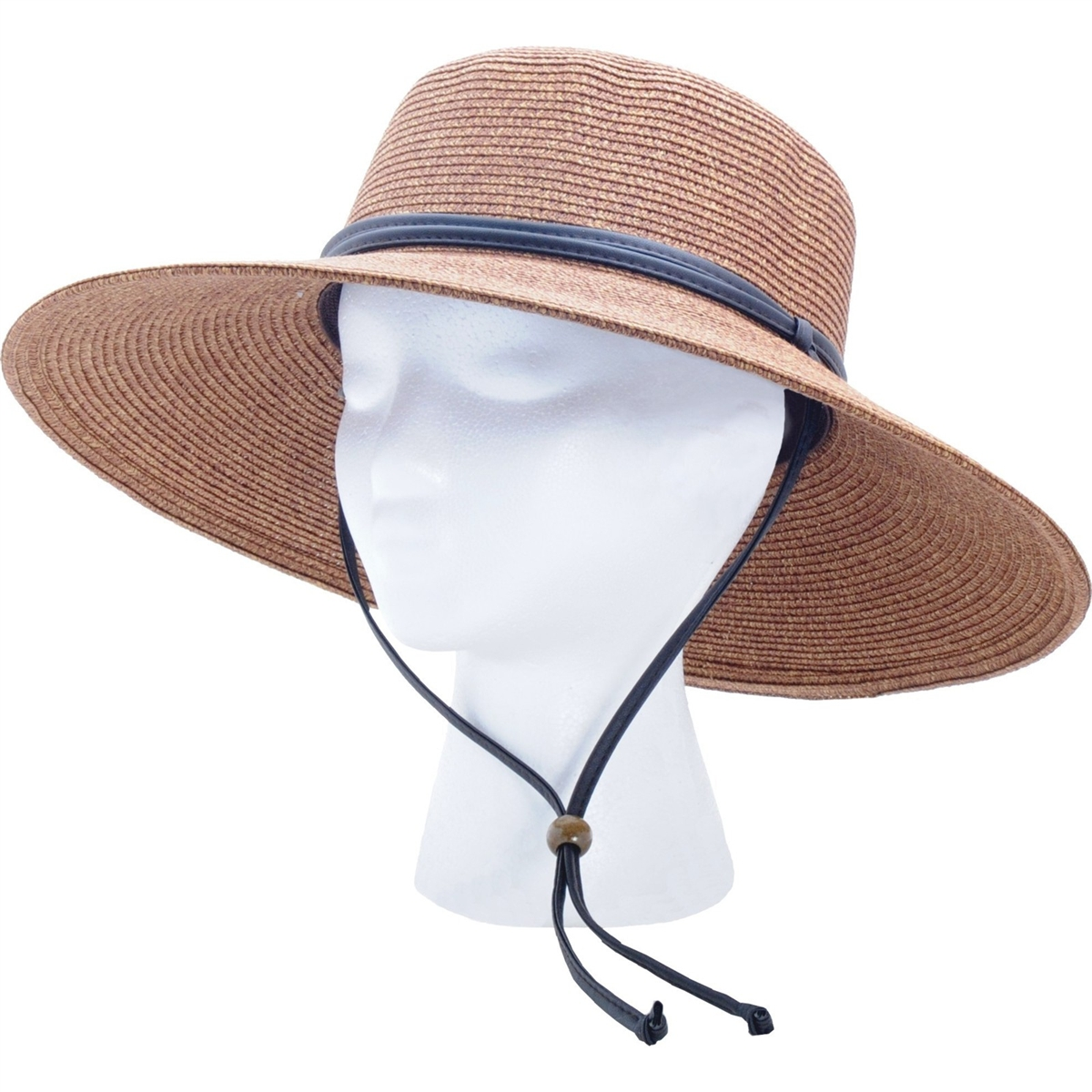 bfa751ccb Women's Braided Sun Hat - Dark Brown UPF 50+