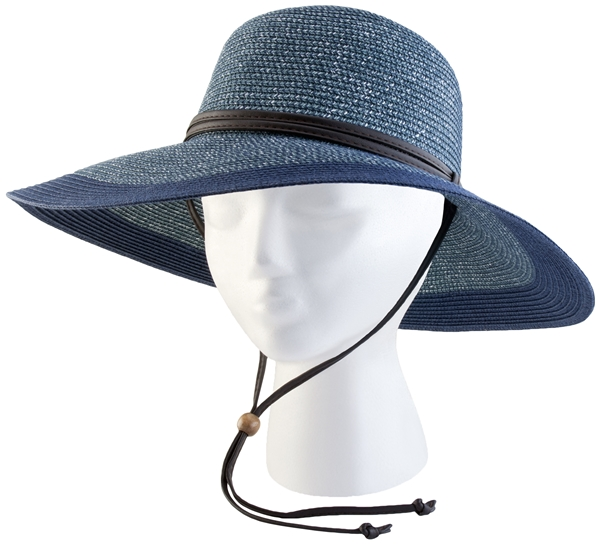 Sloggers Women's Braided Hat Grey Blue UPF 50+