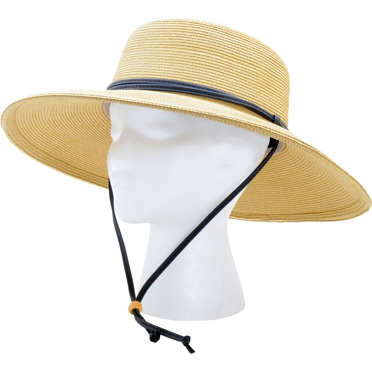 Sloggers Womens Braided Sun Hat with Wind Lanyard UPF 50 Maximum