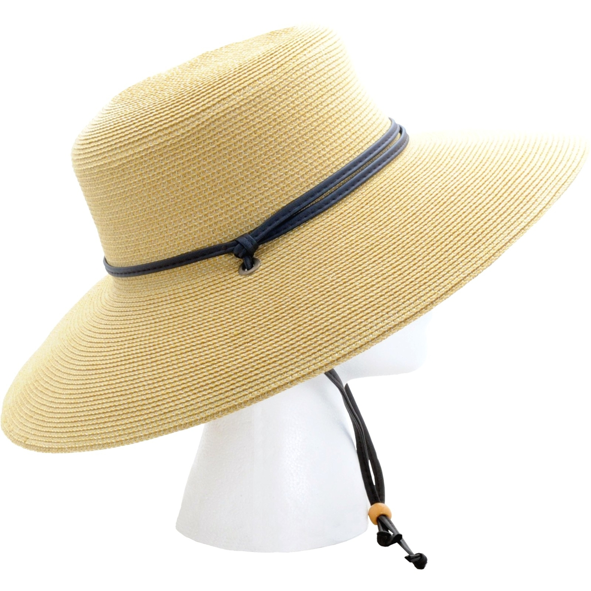 Sloggers Women s Braided Sun Hat with Wind Lanyard UPF 50+ Maximum ... 055e8f289bf