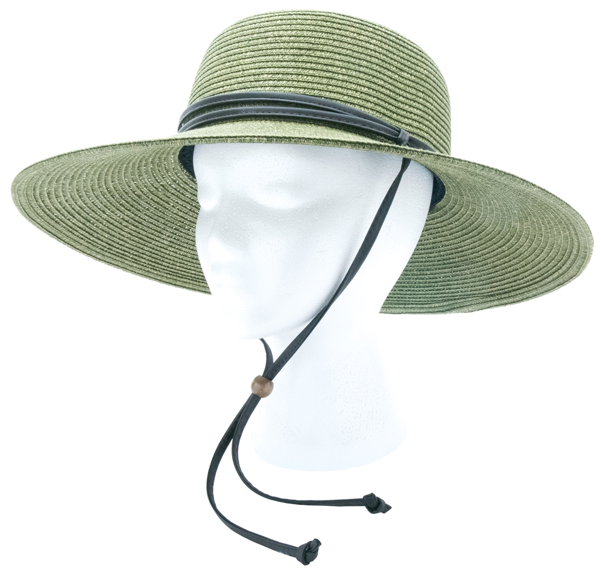Braided hat band Green