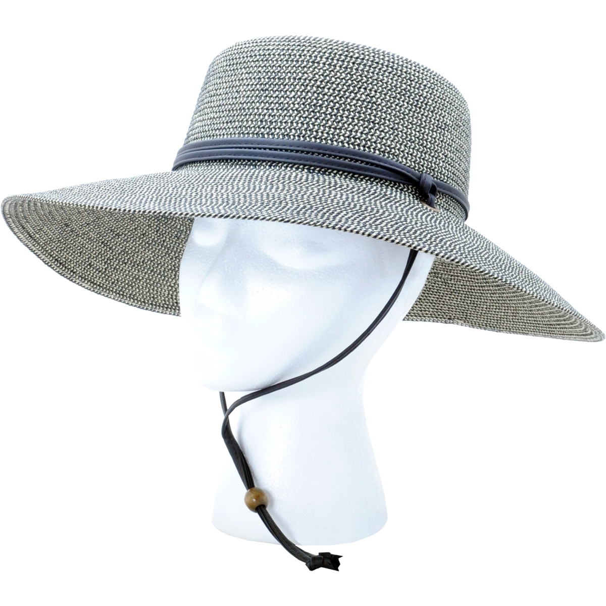 024ee757 Sloggers Women's Braided Sun Hat with Wind Lanyard UPF 50+ Maximum ...