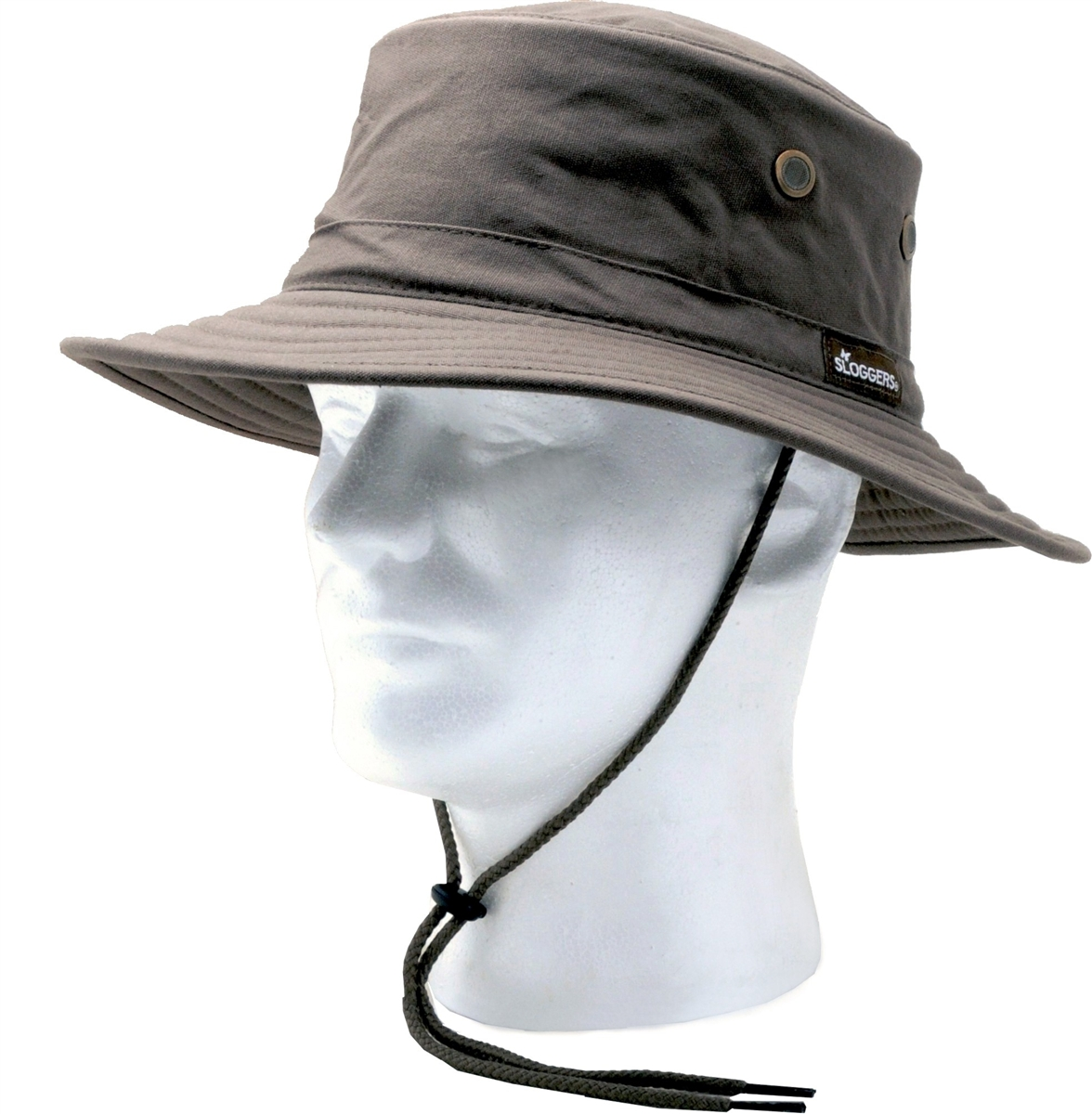 13a8f40bbe4e52 Sloggers Cotton Sun Hat with Wind Lanyard UPF 50+ Maximum Sun Protection