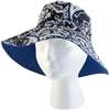 Women's Classic Cotton Bucket Hat -  Blue Waves UPF 50+