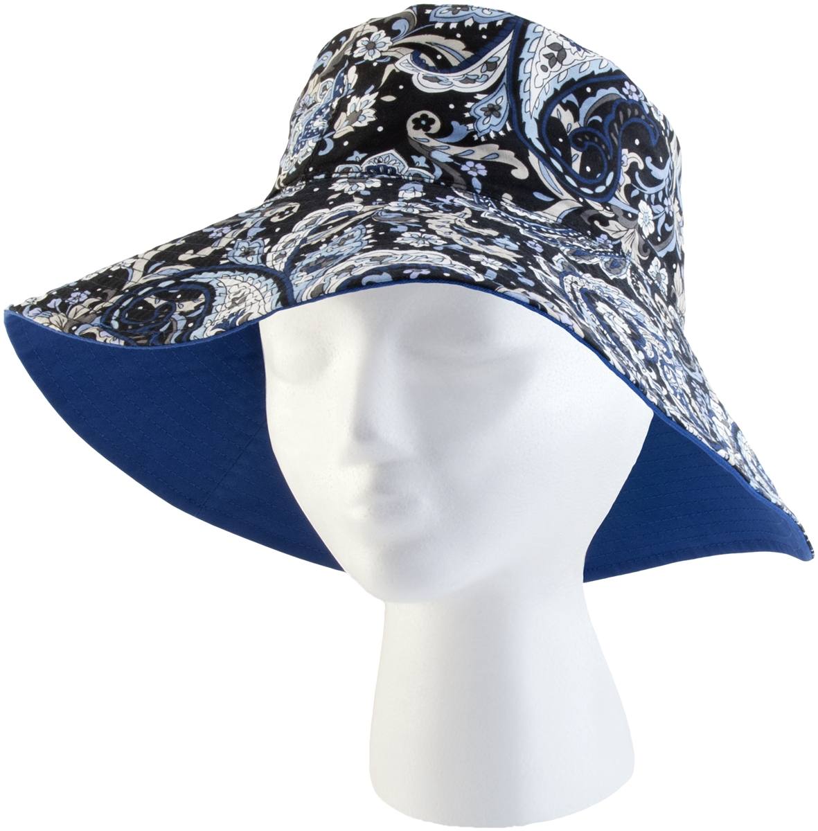 Women s Classic Cotton Bucket Hat - Blue Waves UPF 50+ 10cc3a34635