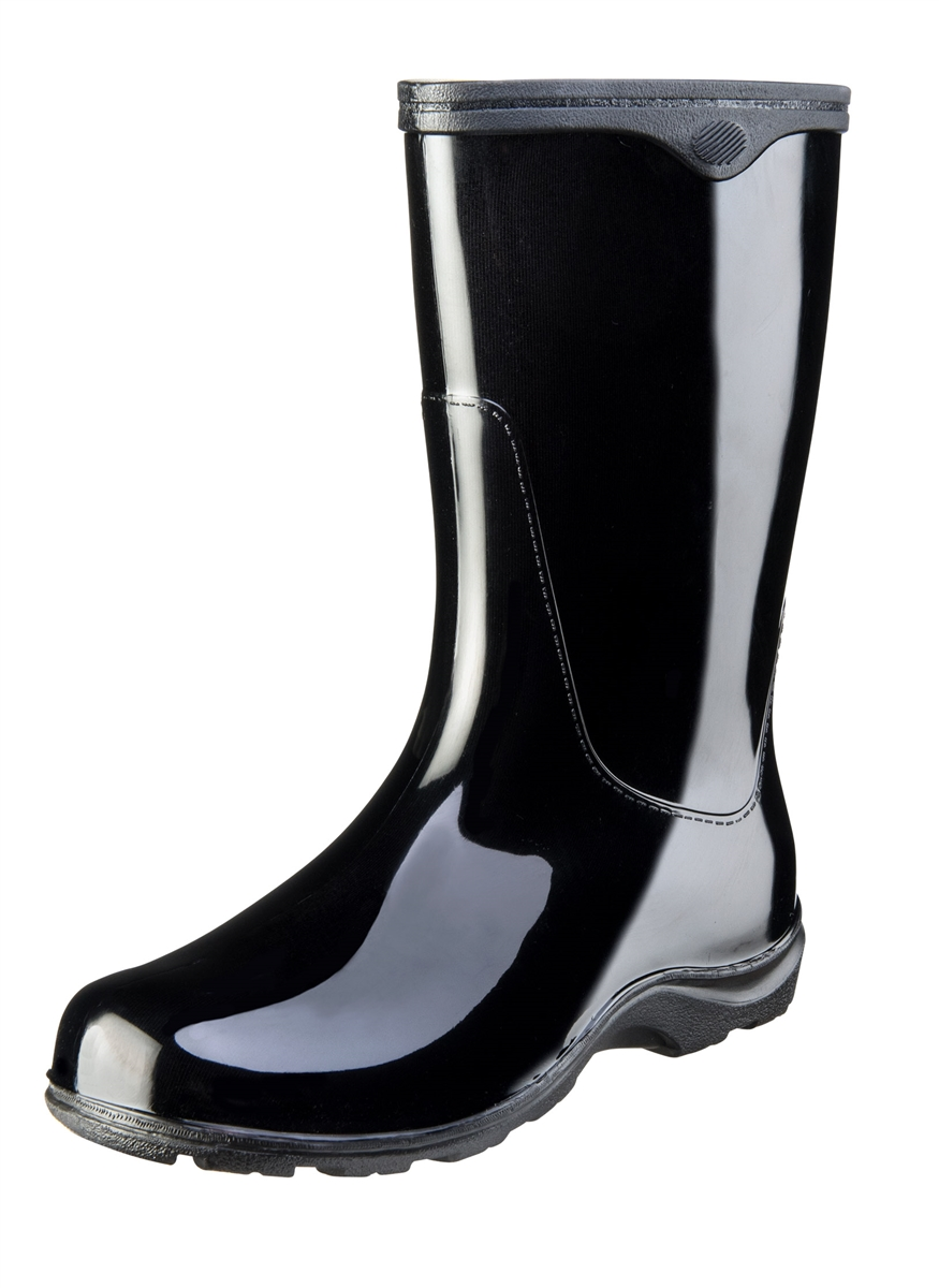 Midnight Black Fashion Boots by Sloggers Waterproof comfortable