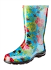 Sloggers Made in the USA Women's Rain Boots Midsummer Blue Print