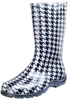 "Women's Rain & Garden Boot -Houndstooth  - Includes FREE ""Half-Sizer"" Insoles!"