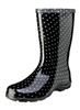 Black & White Polka Dot Rain Boots