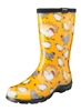 Sloggers Made in the USA  Womens Rain & Garden Boot Chicken Print Yellow