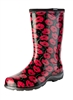Sloggers Made in the USA Women's Rain Boots Red Poppies