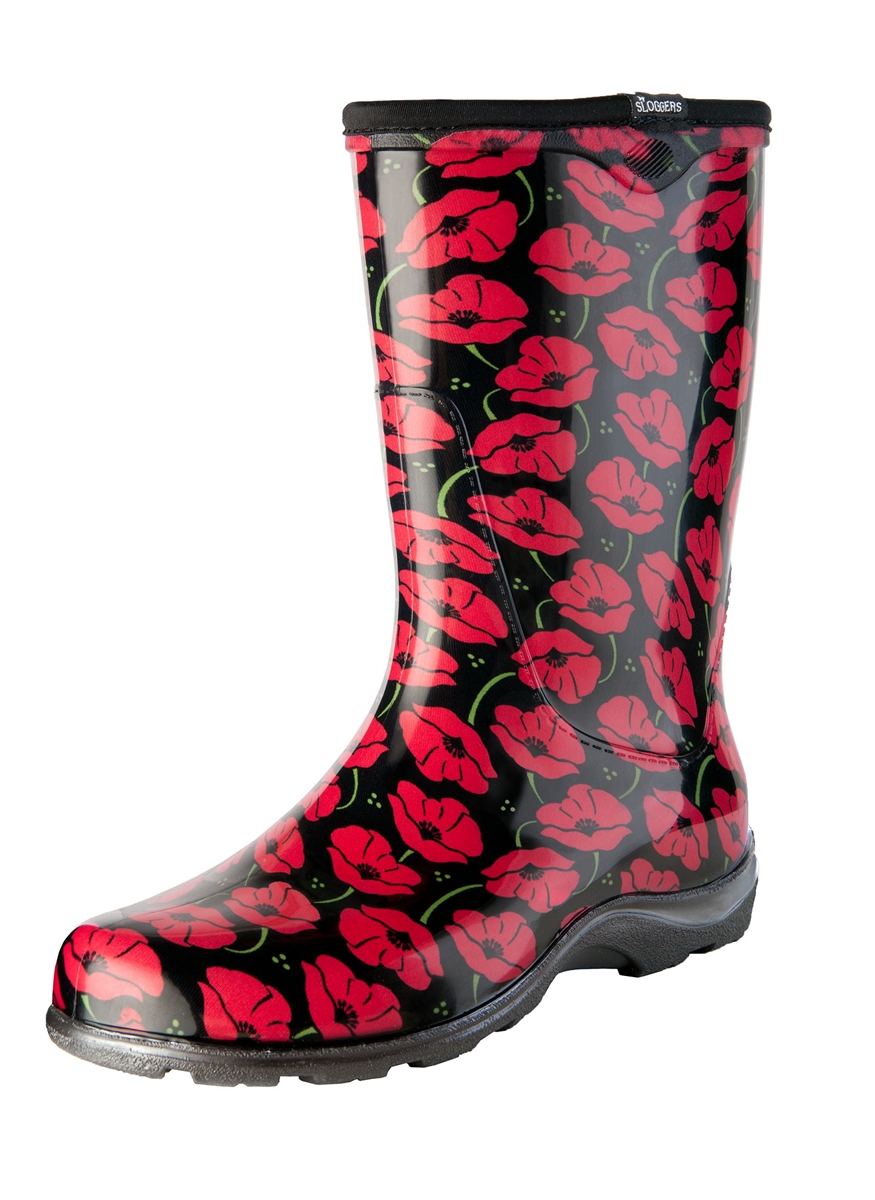 garden boots for women hunter alternative views red poppies fashion boots by sloggers waterproof comfortable and