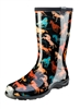 Women's Rain & Garden Boots  - Horse Spririt Print Black - Made in the USA