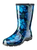 Women's Rain & Garden Boots  -Spring Surprise Blue - Made in the USA