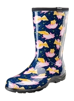 "Sloggers ""When Pigs Fly"" Blue Boots"