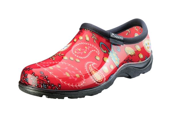 Women's Waterproof Comfort Shoes - Paisley Red