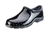 Women's Rain & Garden Shoes - Black & White Polka Dots