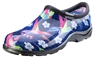 Sloggers Women's Rain & Garden Shoe in Hummingbird Blue/Pink Print