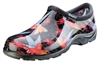 Sloggers Women's Rain & Garden Shoe in Hummingbird Blk/Red Print