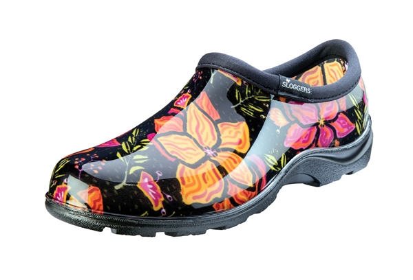 Sloggers Women's Rain & Garden Shoe in Spring Surprise Black Print