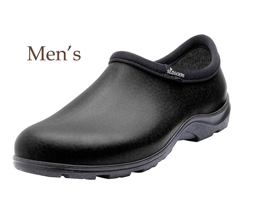 Sloggers Made in the USA Men's Rain & Garden Waterproof Comfort Shoe -  Black Leather Print