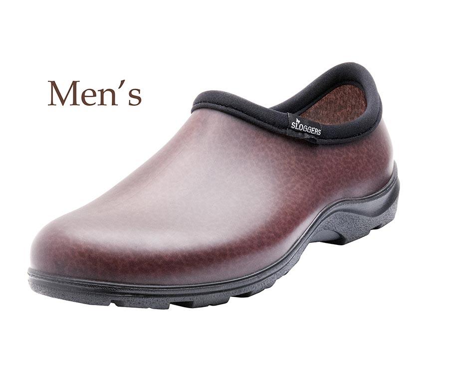 PRINCIPLE PLASTICS Garden Shoe, Black Leather, Men's Size 11
