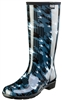 "Stride by Sloggers Rain and Fashion 14"" Tall Boot - Twisted Houndstooth Green"