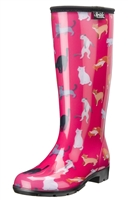 Crazy Cat Fashion Rain Boots