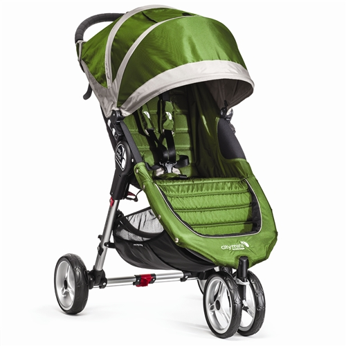 City Mini Single Stroller By Baby Jogger 2015 In Lime Grey Ships Now