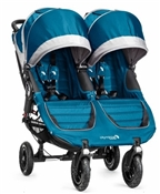 Baby Jogger City Mini GT Double Stroller 2016 in Teal/Gray