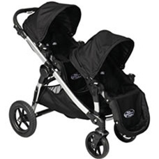 Baby Jogger City Select Double Stroller 2012 In Onyx Black