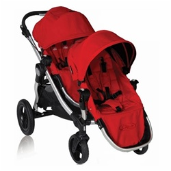 Baby Jogger City Select Double Stroller 2011 In Ruby Red