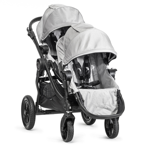 Baby Jogger City Select Double Stroller Silver Black Frame