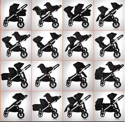 Baby Jogger City Select Double Stroller 2016 In Teal Black Frame Ship Now