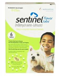 Sentinel Flavor Tabs For Dogs 11-25 lbs, Green 6 Pack