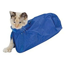 Feline Restraint Bag, 5-10 lbs, Navy